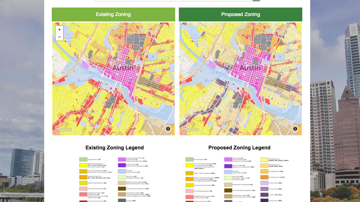 Austins CodeNEXT Maps Tweaked For Errors Austin Business Journal - Los angeles zoning map