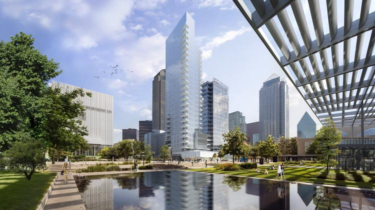 The Hall Arts Residences & Hotel will begin to take shape next week in the Dallas Arts District.