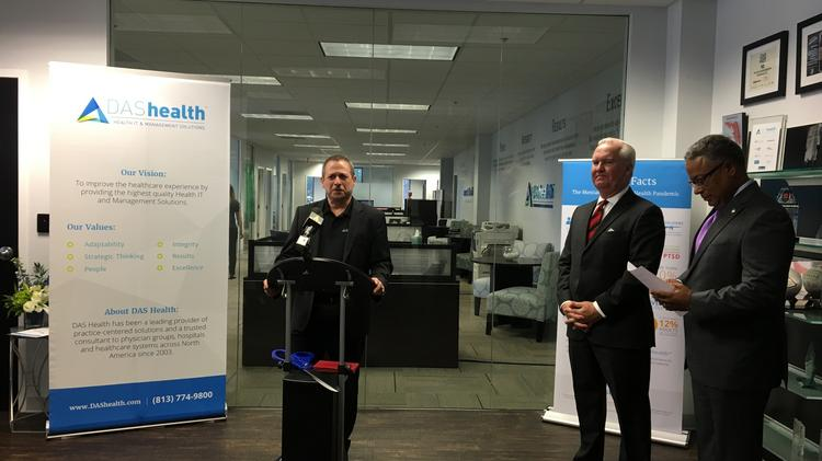 David Schlaifer, CEO of DAS Health, last year announced a $145,000 capital investment to expand its headquarters in downtown Tampa and said it would add 30 jobs.