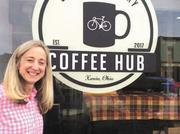 """Cynthia """"Cymp"""" Stemple, who returned to Xenia after 20 years in Ukraine, is preparing to open the coffee shop """"Coffee Hub Xenia"""" in the Toward Independence building at 81 E. Main St., next to One Bistro."""