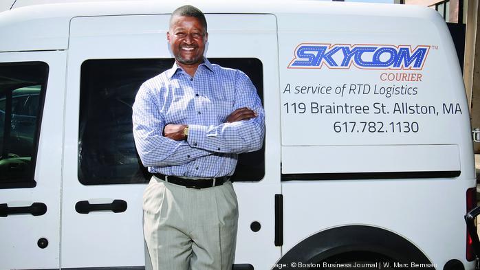 Scott Baker's logistics firm Skycom Courier delivers it all