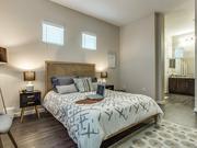 A model bedroom at the Avilla Premier development.