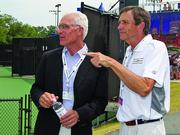 Don Flow, left, has been central to the Winston-Salem Open's success in Winston-Salem.