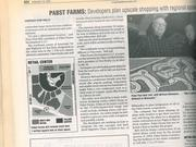 The 2003 story in the Milwaukee Business Journal included a map showing the planned layout for Pabst Farms.