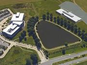 As this rendering illustrates, Terracon's new 65,000-square-foot headquarters (right) will neighbor the John Deere sales and sales and marketing center in Olathe's Corporate Ridge Office Park.