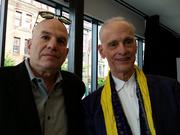 Television writer David Simon, left, with John Waters.