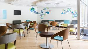 The waiting room at the new Planned Parenthood Greater Memphis Region health center. Interior artwork was created by Kong Wee Pang and the UrbanArt Commission.