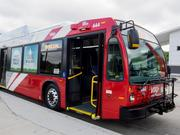 VIA Metropolitan Transit debuted the first five buses of its new fleet of natural gas-powered buses during a Thursday morning event at the Medical Center Transit Center.