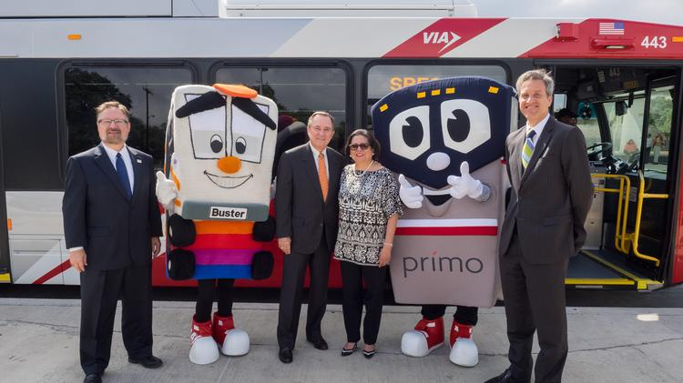 Via Debuts First Buses In New Natural Gas Powered Fleet