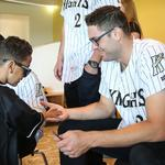 Charlotte Knights pay a visit to Levine Children's Hospital (PHOTOS)