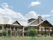A courtyard at Dominion Senior Living will include walking paths and sensory gardens with features designed to engage residents living with Alzheimer's and other forms of dementia.