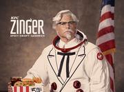 Rob Lowe will play a new astronaut-themed Col. Harland Sanders in upcoming advertising for the company's new Zinger sandwich.