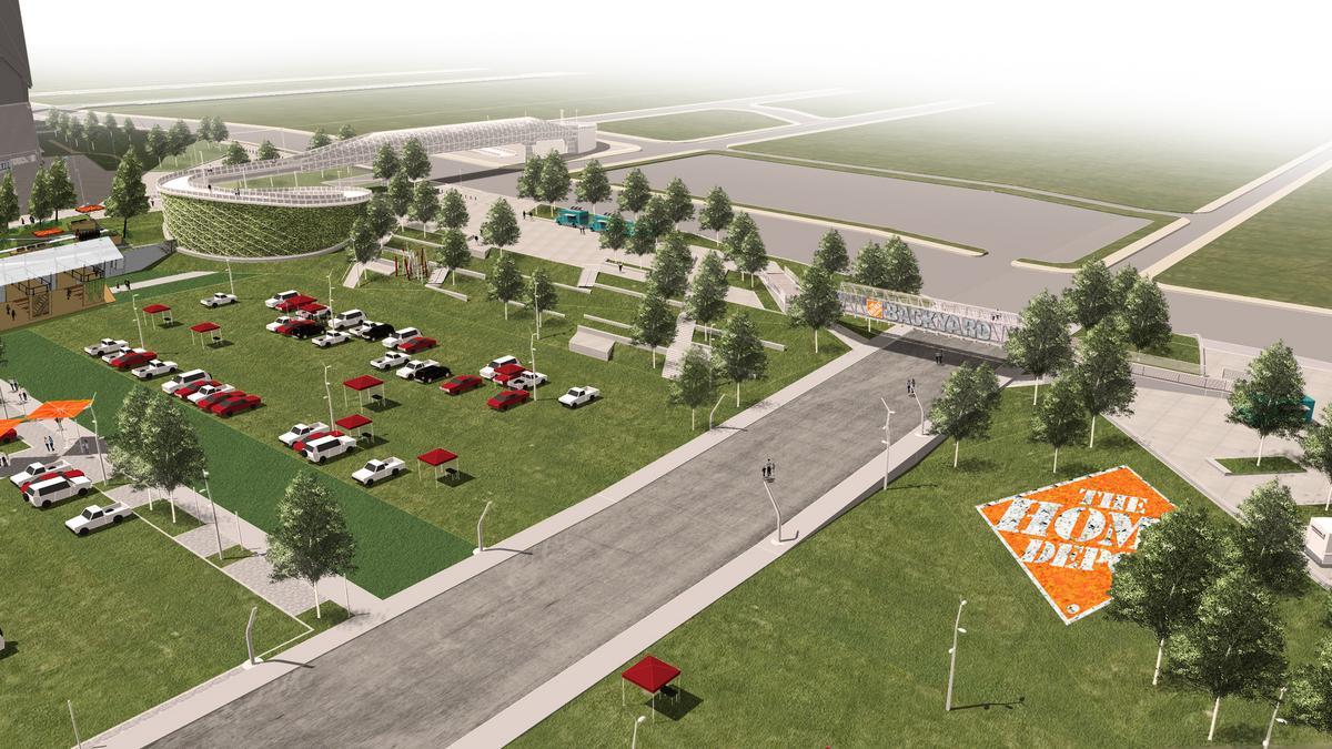 the home depot backyard' coming to georgia dome site (slideshow