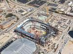 See Milwaukee Bucks' new arena rapidly take shape from the air: Slideshow