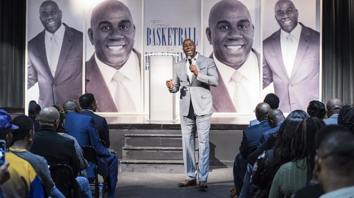 Q&A: Magic Johnson brings business, basketball message to Milwaukee: Slideshow