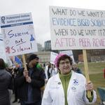 Science: Marchers rally for political decisions based on data, not beliefs