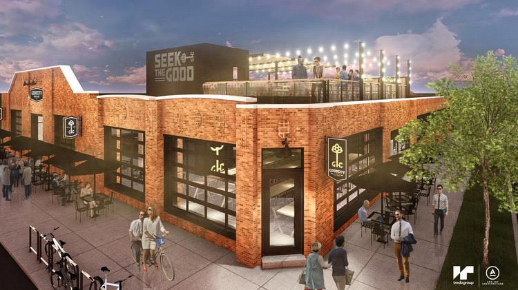 High Quality A Rendering Of The Rooftop Patio Planned For Good City Brewing.
