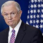 Law: Activist convicted after laughing at <strong>Jeff</strong> <strong>Sessions</strong>