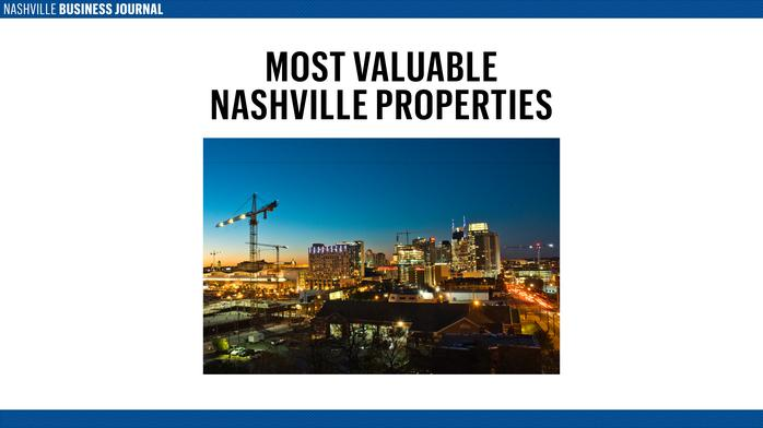 Sticker shock: Here are the 20 most valuable properties in Nashville
