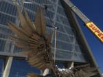 Mercedes-Benz Stadium in Atlanta begins installing world's largest bird sculpture (SLIDESHOW & VIDEO)