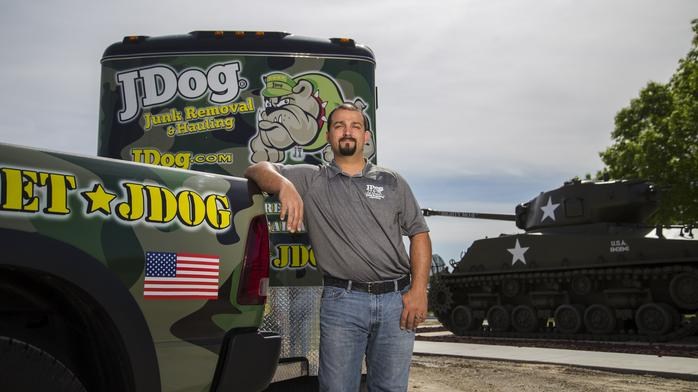 Army vet finds a future with junk