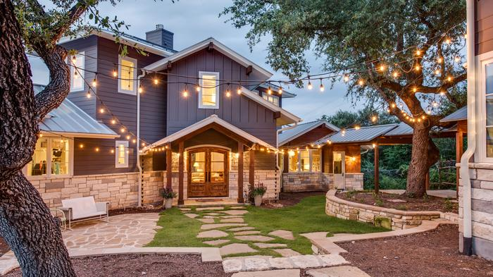 Hobbs Ink, yet another new name, garnered top awards for Best Green Home. The net zero home means that the property produces more energy than it needs. The project relies on numerous sustainability and energy conservation features: Siting the property on
