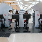 Airbus startup debuts cabin prototypes with yoga studios and bikes (Photos)