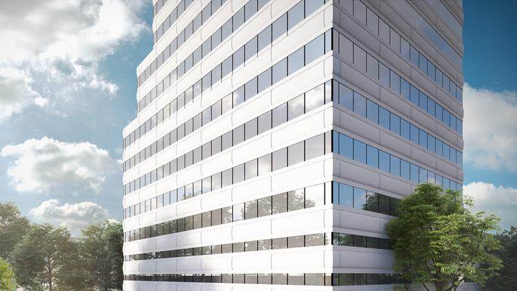 The office tower adjacent in the Oak Lawn neighborhood will be renamed Hall Street at The Centrum.