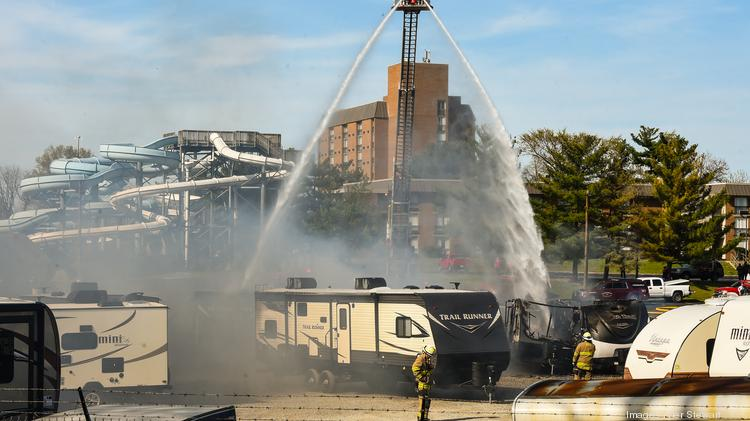 Cleanup Continues After Fire At Former Tom Stinnett Rv