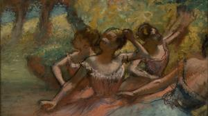 Edgar Degas, Three Women at the Races,  ( Trois  femmes aux courses ) ,  about 1885. Pastel on  paper;  27 x 27 in. Denver Art Museum: Anonymous  gift, 1973.234