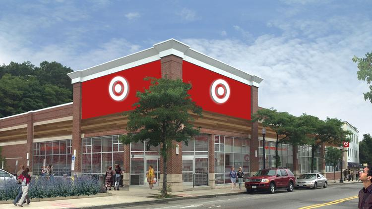Target Corp. plans to open a 21,500-square-foot store on Washington Street in Roslindale Village next March.