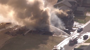 An explosion and fire leveled a house in Firestone on April 17