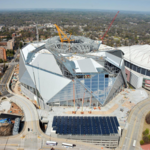Blank to cover any cost overruns for Mercedes-Benz Stadium