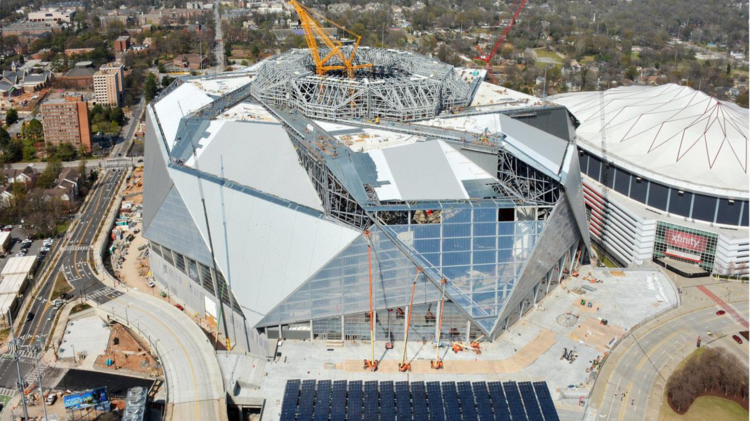 Mercedes Benz Fort Washington >> Blank to cover any cost overruns for Mercedes-Benz Stadium ...