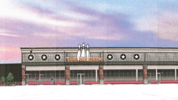 Scene75 Entertainment Center plans boutique bowling alley