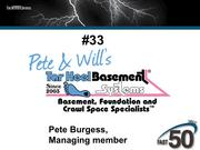 Pete & Will's Tar Heel Basement Systems solves water, moisture and foundation settlement problems by waterproofing basements, encapsulating crawlspaces, repairing and reinforcing basement walls and foundations. The Winston-Salem company had $2.35 million in 2012 revenues.