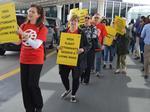 Union holds protests for Mesa Arlines at Sky Harbor, Dallas and Chicago