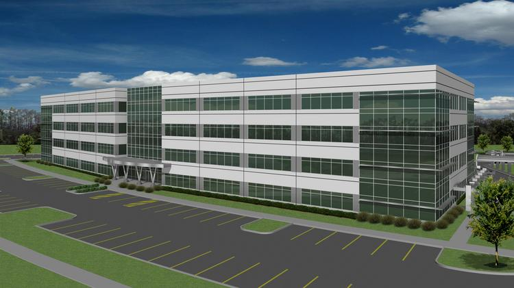 AAA Inc. has signed a 150,000-square-foot lease at this office building, under construction in Renaissance Center. The office park is north of Tampa International Airport.
