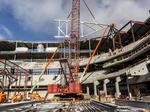 Wind doesn't deter Bucks steel-beam ceremony: Slideshow
