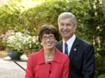 Georgia State President Mark Becker and his wife giving school $500,000