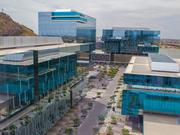 The State Farm campus in Tempe has five buildings next to Tempe Town Lake. Darryl Webb/for Phoenix Business Journal.