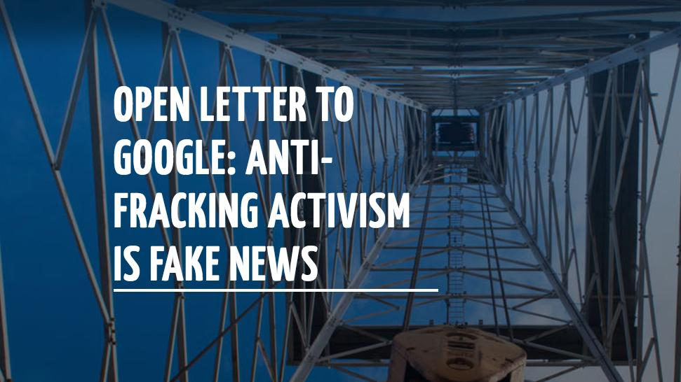 Oil & gas industry pushes for Google to label anti-fracking