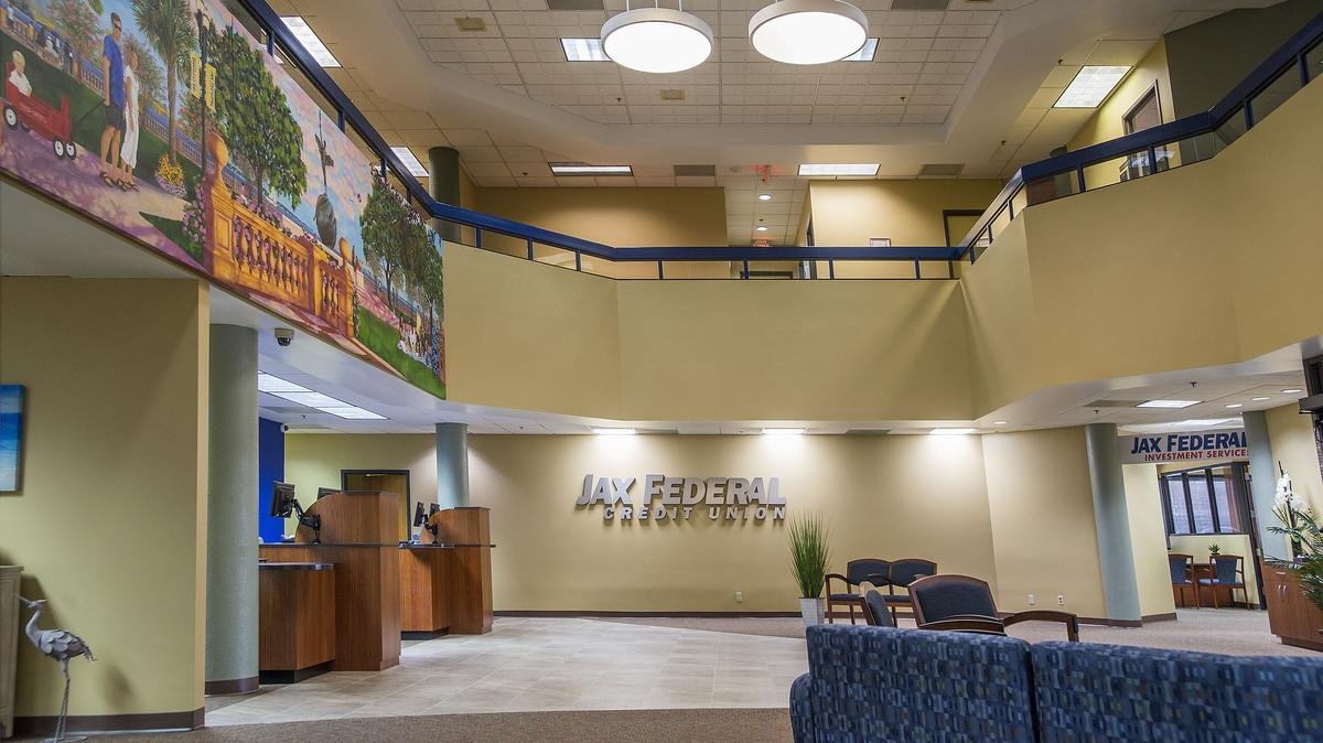 Jax Federal Credit Union in Jacksonville, Florida completes interior renovation of main branch