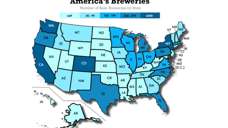 How many craft breweries Colorados near the top Denver Business