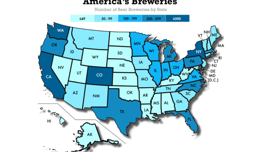 How many craft breweries? Colorado's near the top - Denver Business Denver Brewery Map on