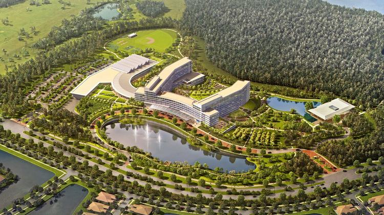 Rendering of aerial view of KPMG Lake Nona campus, planned to open in early 2020.