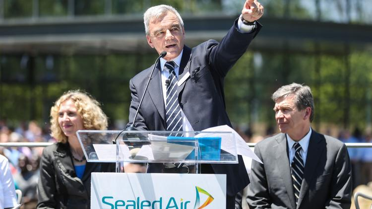 Sealed Air held the grand opening of its new global headquarters in Charlotte on Wednesday to a crowd of hundreds of Charlotte and N.C. dignitaries and employees.