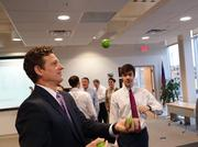 Juggling is apparently part of the skill set at Greensboro-based Charles Aris.
