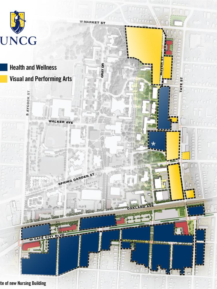 UNC Greensboro\'s expansive millennial campus plan heads to ...