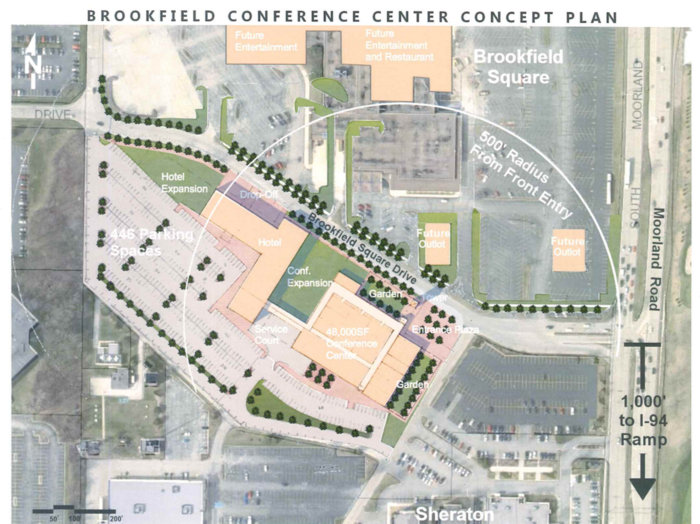 Conference center, hotel planned near Brookfield Square